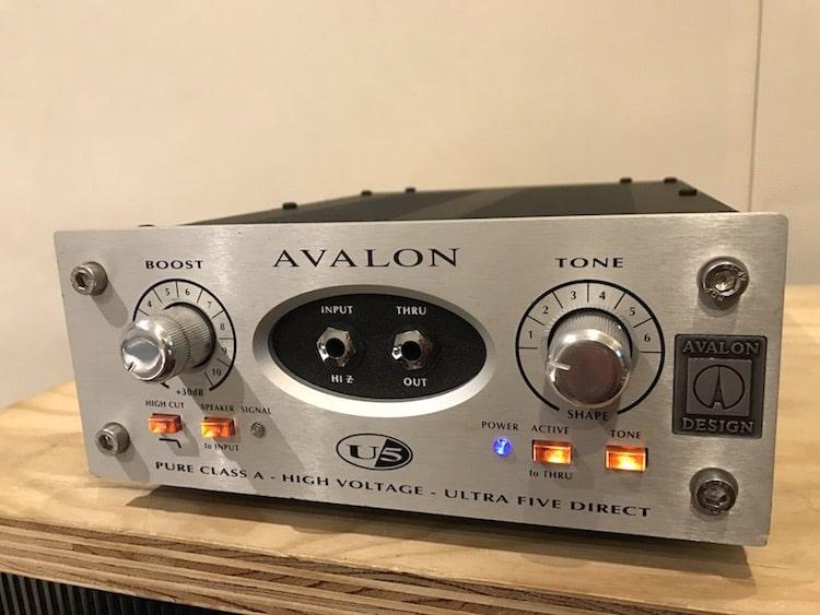 レコーディング用オプション機材にAVALON U5を追加しました!の画像